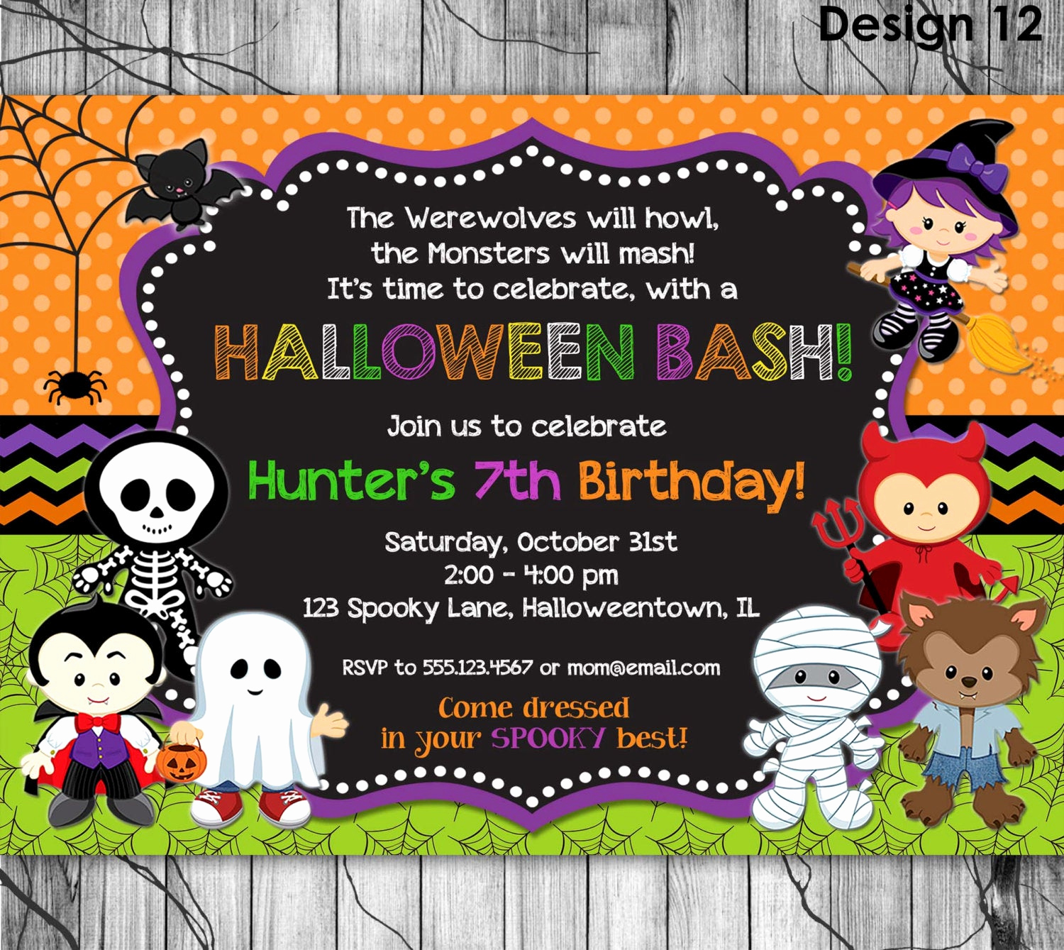 Halloween Costume Party Invitation Inspirational Halloween Birthday Invitation Printable Kids Halloween Party
