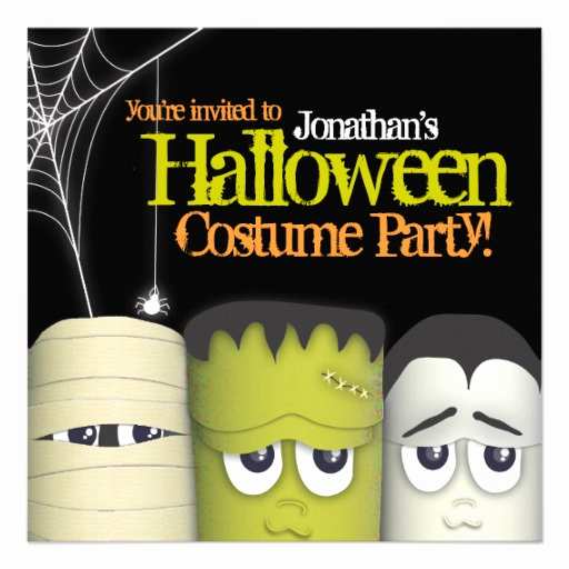 Halloween Costume Party Invitation Lovely Spooky Monster & Friends Halloween Costume Party 5 25x5 25