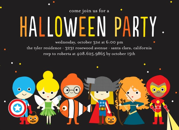 Halloween Costume Party Invitation New Fun Halloween Party Invitations