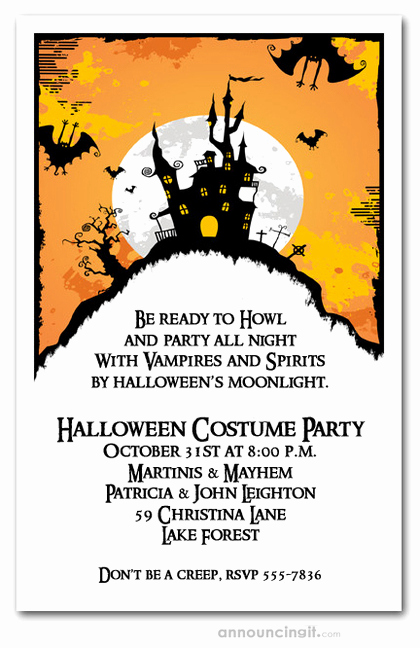 Halloween Costume Party Invitation New Haunted House On Hill Halloween Party Invitations