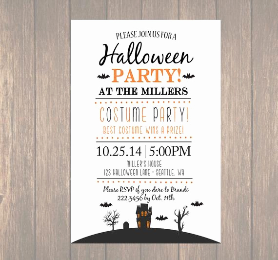 Halloween Costume Party Invitation Unique Printable Halloween Invitation Diy Halloween Costume