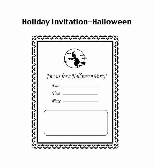 Halloween Invitation Templates Microsoft Word Awesome Sample Halloween Invitation Template 9 Free Documents
