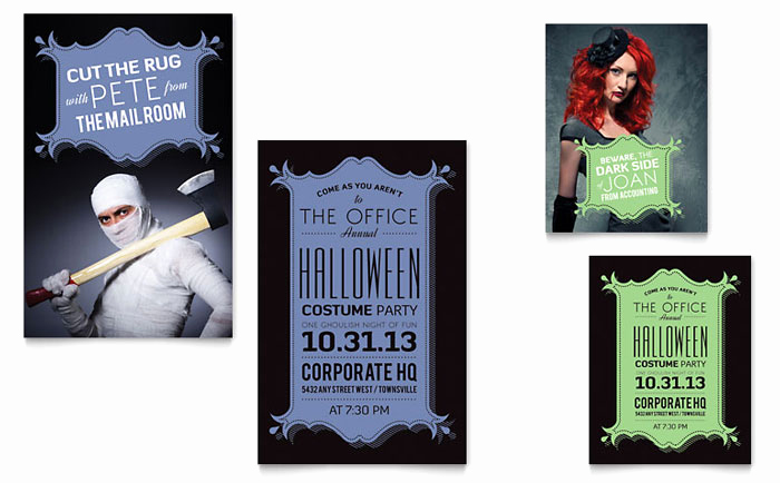 Halloween Invitation Templates Microsoft Word Elegant Halloween Fice Party Invites Flyer & Poster
