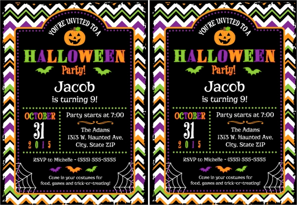 Halloween Invitation Templates Microsoft Word Elegant Sample Halloween Invitation Template 9 Free Documents