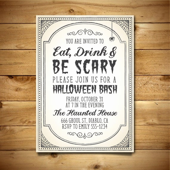 Halloween Invitation Templates Microsoft Word Fresh Items Similar to Diy Halloween Invite Halloween Party