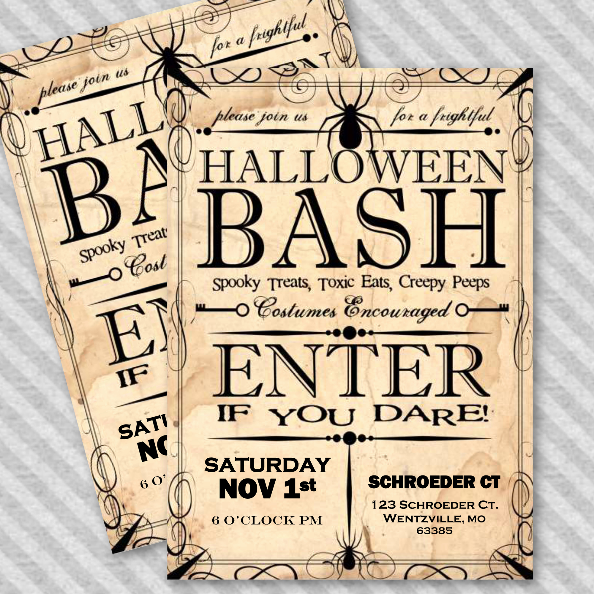 Halloween Invitation Templates Microsoft Word Inspirational Apothecary Style Halloween Party Invitation Template