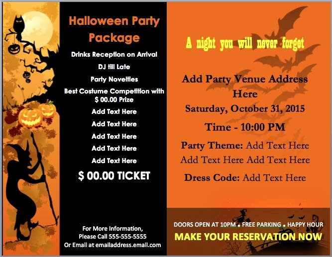 Halloween Invitation Templates Microsoft Word Inspirational Halloween Party Flyer Template Word Flowersheet
