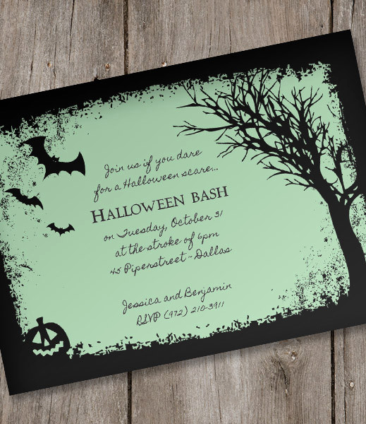 Halloween Invitation Templates Microsoft Word Lovely Halloween Invitation Template – Spooky Woods – Download