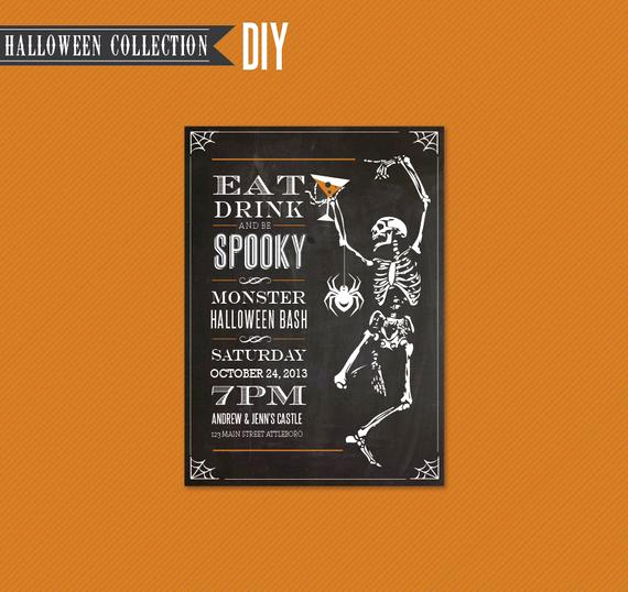 Halloween Invitation Templates Microsoft Word Lovely Items Similar to Halloween Party Invitation Diy