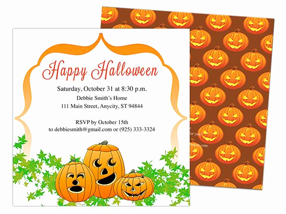 Halloween Invitation Templates Microsoft Word Lovely Pinterest • the World's Catalog Of Ideas