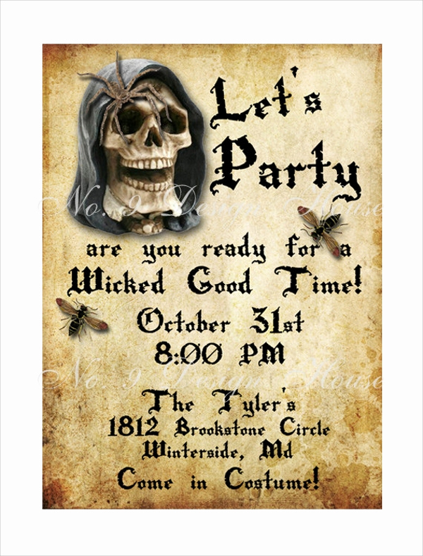 Halloween Invitation Templates Microsoft Word New 9 Sample Email Invitations Psd Vector Eps Ai Word