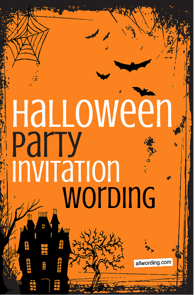 Halloween Invitation Wording Adults Beautiful Halloween Party Invitation Wording Allwording