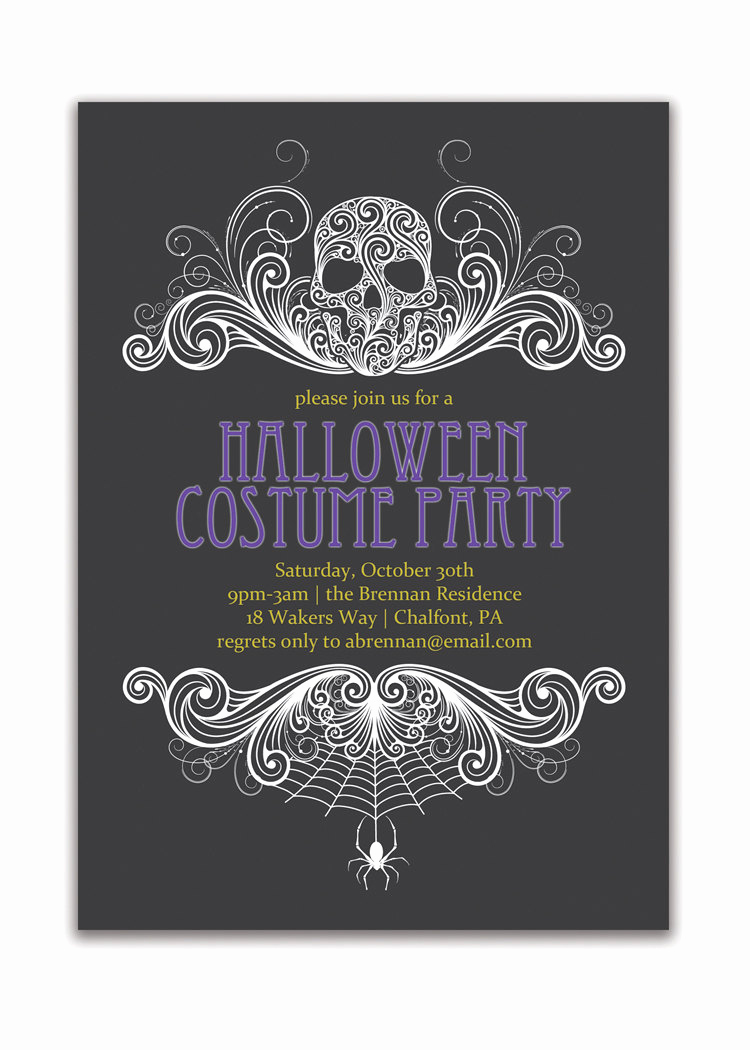 Halloween Invitation Wording Adults Inspirational Halloween Party Invitation Adult Costume Party Invitation