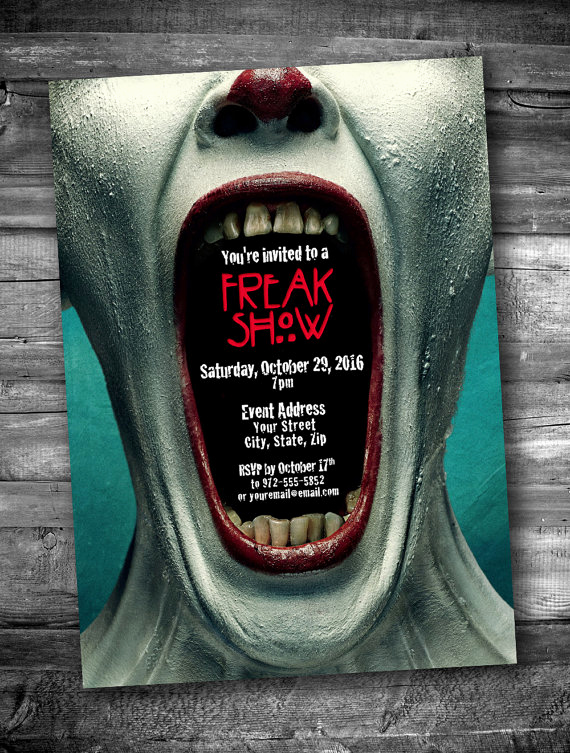 Halloween Party Invitation Ideas Lovely Scary Clown Mouth Adult Halloween Invitation by