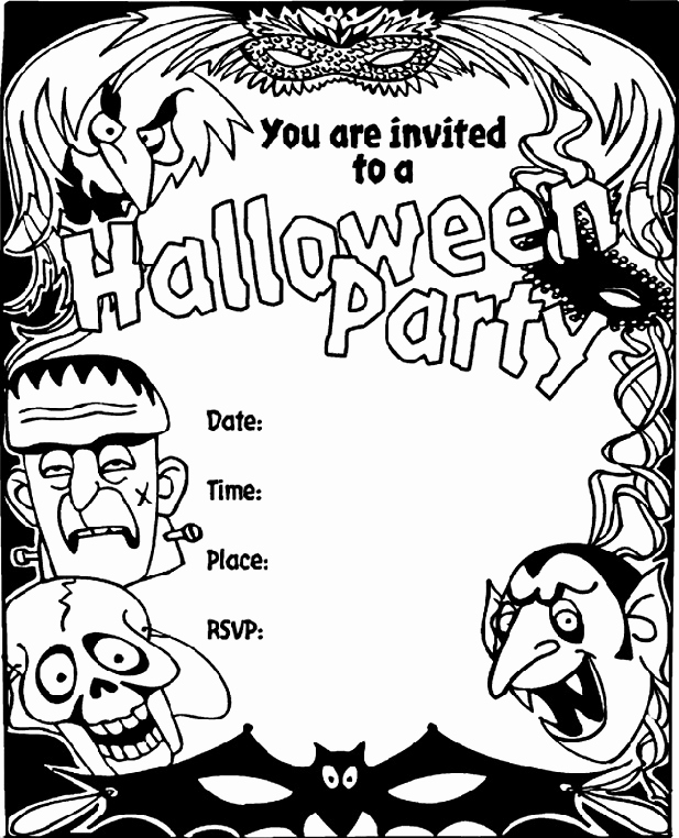 Halloween Party Invitation Templates Awesome 16 Awesome Printable Halloween Party Invitations