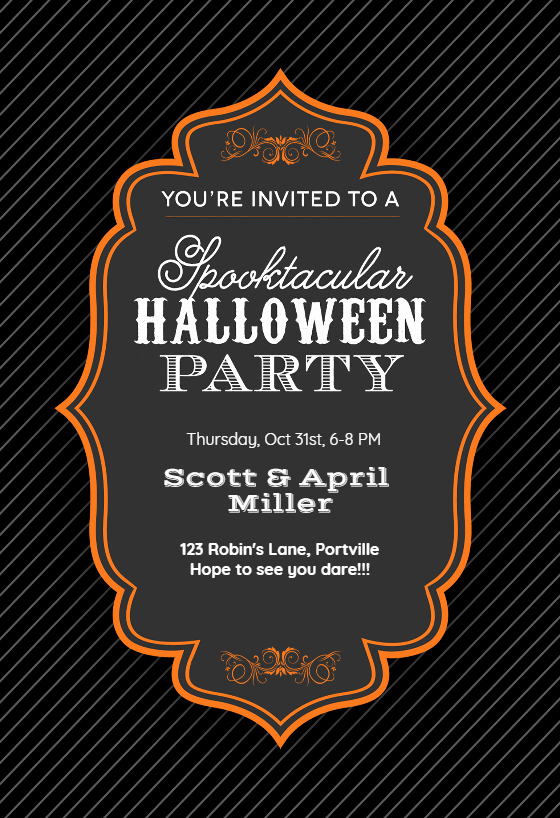 Halloween Party Invitation Templates Awesome Spooktacular Halloween Party Halloween Party Invitation