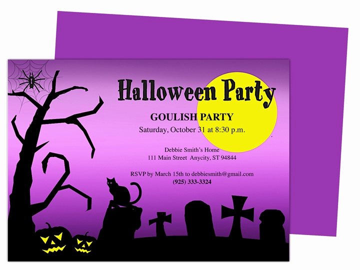 Halloween Party Invitation Templates Awesome Witch Halloween Party Invitation Template