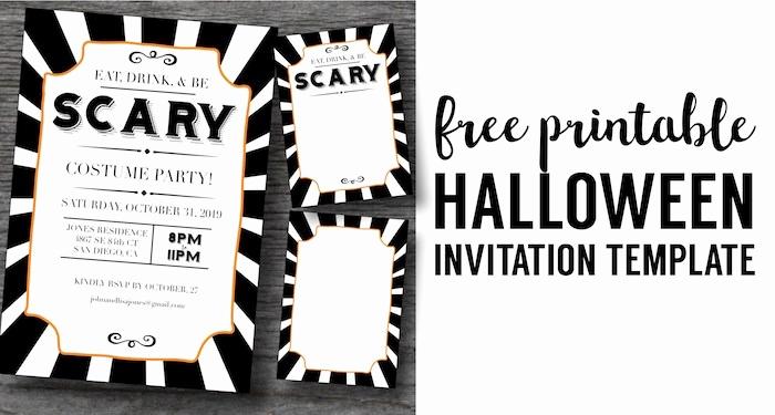Halloween Party Invitation Templates Elegant Halloween Invitations Free Printable Template Paper