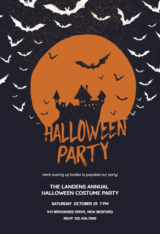 Halloween Party Invitation Templates Inspirational Haunted House Halloween Party Invitation Template Free
