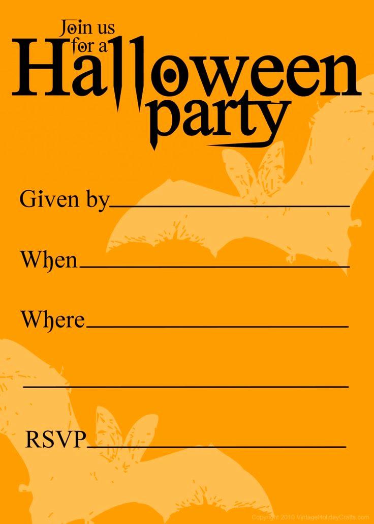 Halloween Party Invitation Templates Luxury Free Printable Halloween Birthday Invitations Templates