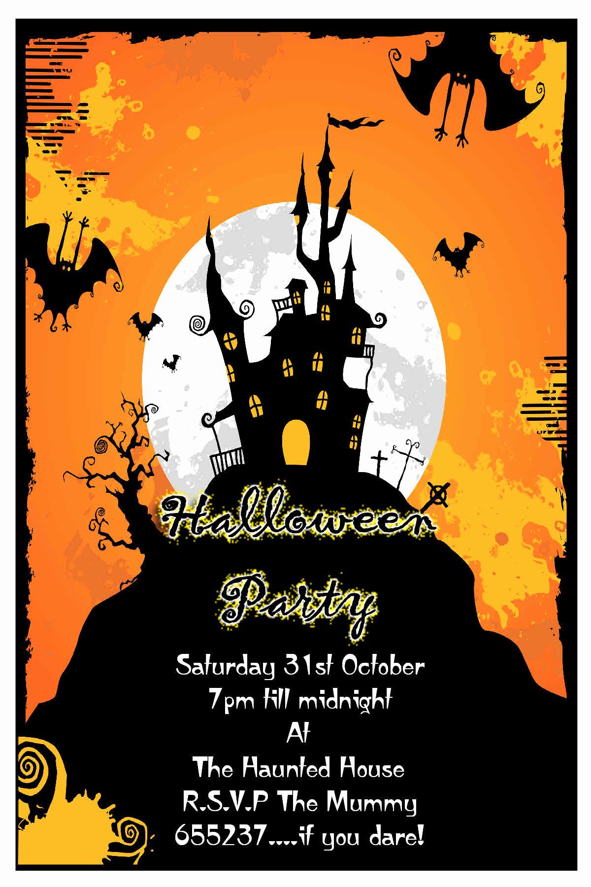 Halloween Party Invitation Templates Luxury Halloween Party Invitation Cards – Festival Collections