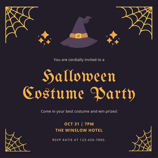 Halloween Party Invitation Templates Unique Halloween Party Invitation Templates Canva