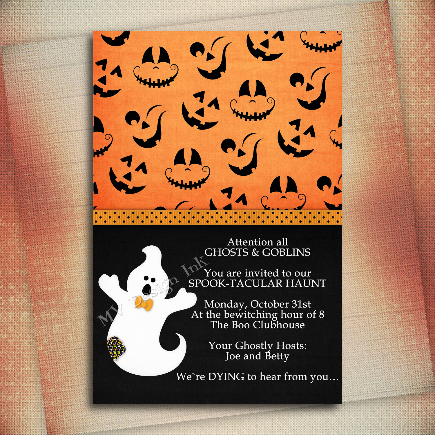 Halloween Party Invitation Wording Awesome Halloween Birthday Invitation Wording – Festival Collections