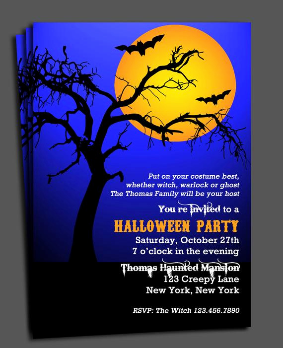 Halloween Party Invitation Wording Awesome Halloween Invitation Printable Spooktacular Tree
