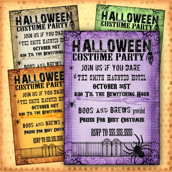 halloween invitation costume party