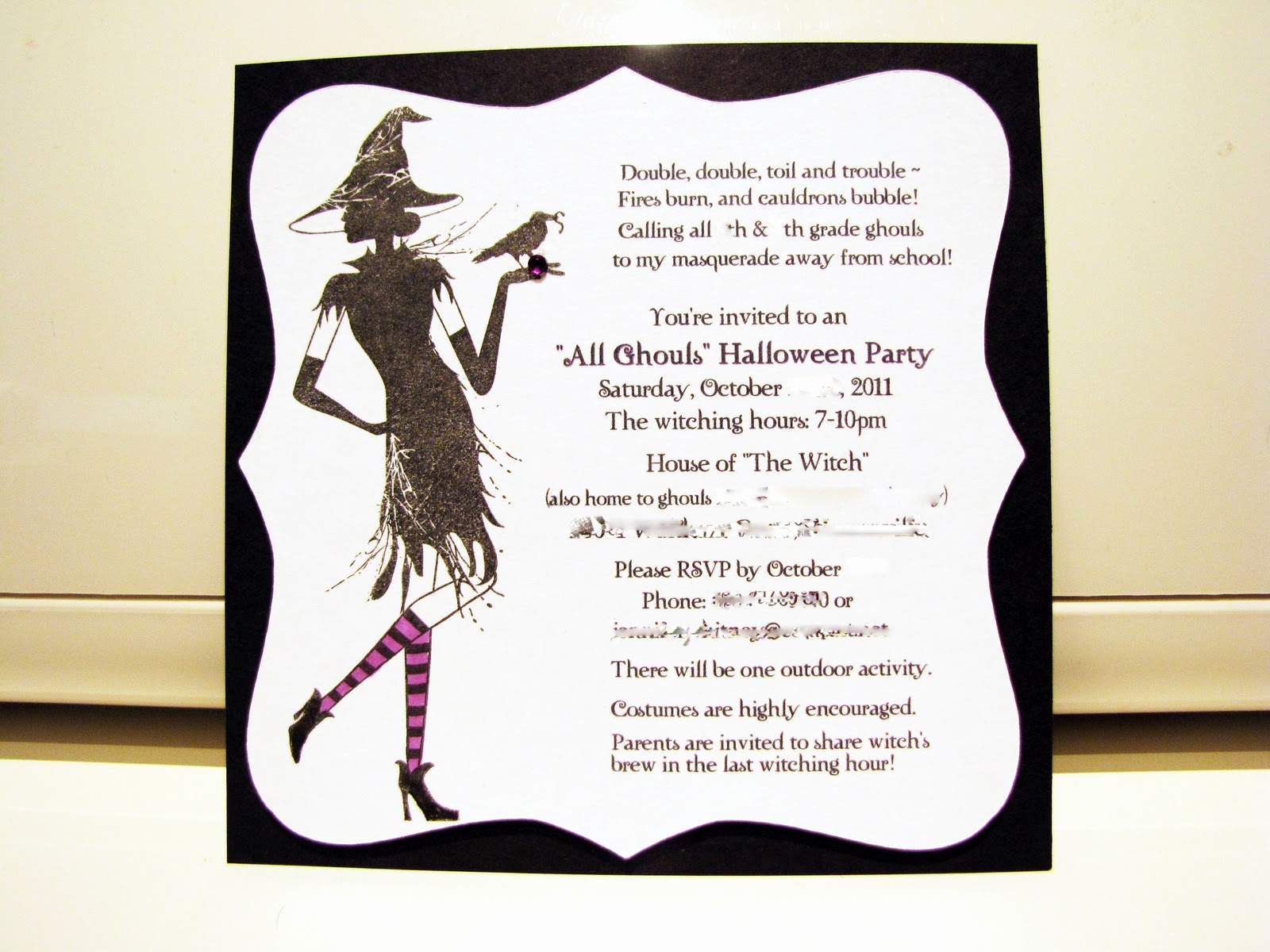 Halloween Party Invitation Wording Awesome Jen S Happy Place Halloween Party 2011 the Invitation
