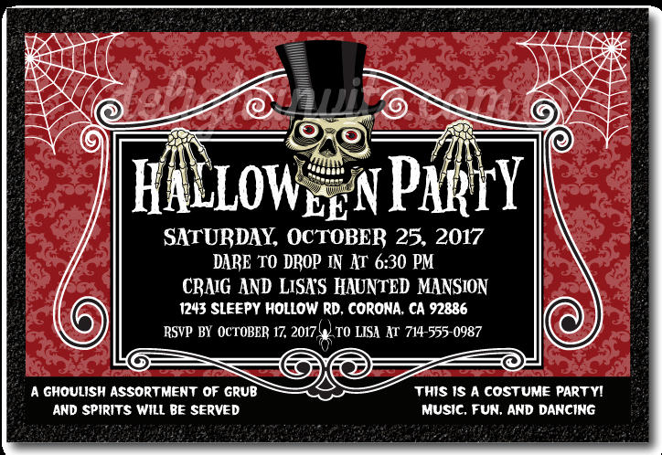 Halloween Party Invitation Wording Elegant Halloween 2017 Invitation – Festival Collections