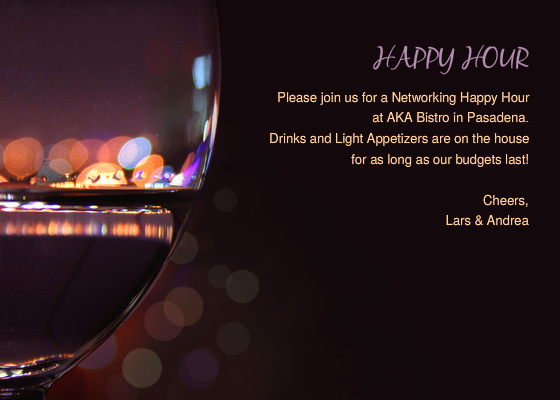 Happy Hour Invitation Email Awesome A Networking Happy Hour Line Invitations & Cards by