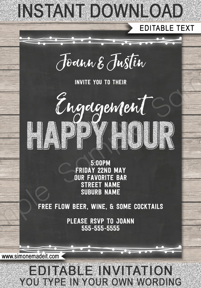 Happy Hour Invitation Email Beautiful Happy Hour Invite Template