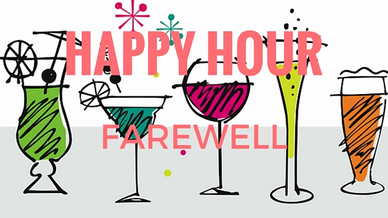 Happy Hour Invitation Email Beautiful Wish Farewell Happy Hour