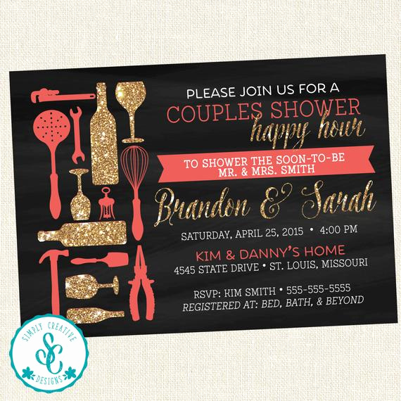 Happy Hour Invitation Email Best Of Bridal Shower Invitation Couples Happy Hour Shower Invite