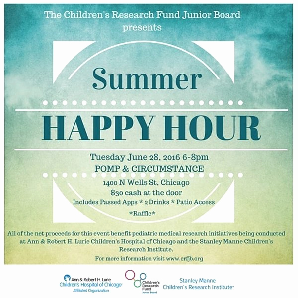 Happy Hour Invitation Email Lovely Home Lurie Children S Hospital Of Chicago
