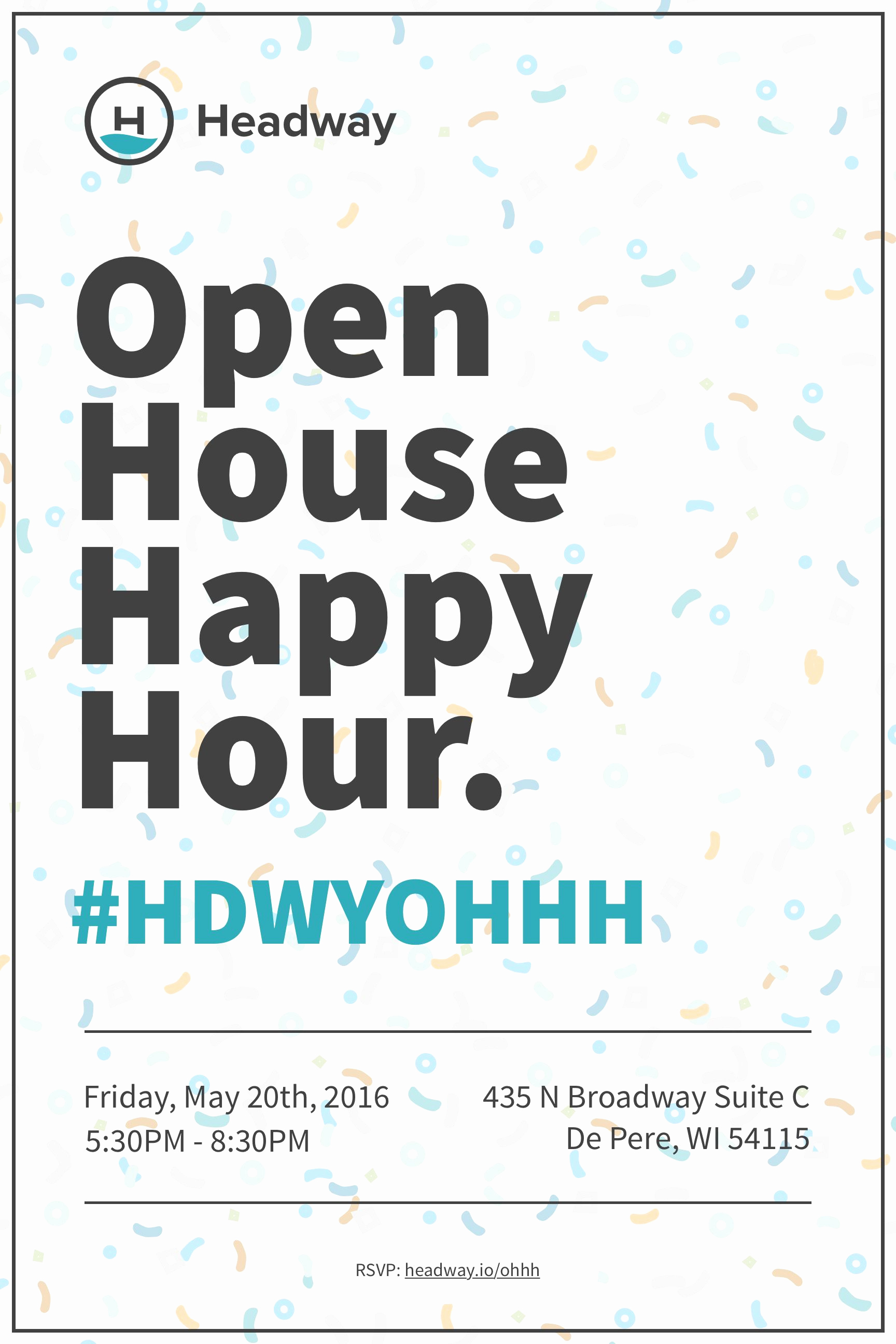 Happy Hour Invitation Email New Open House Happy Hour Invitation