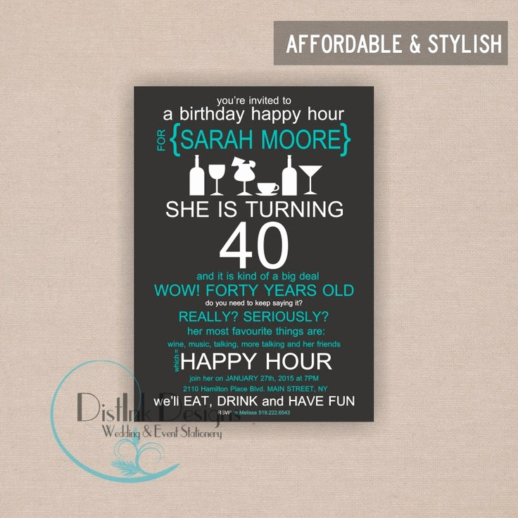 Happy Hour Invitation Email Unique Happy Birthday Invitation Wording