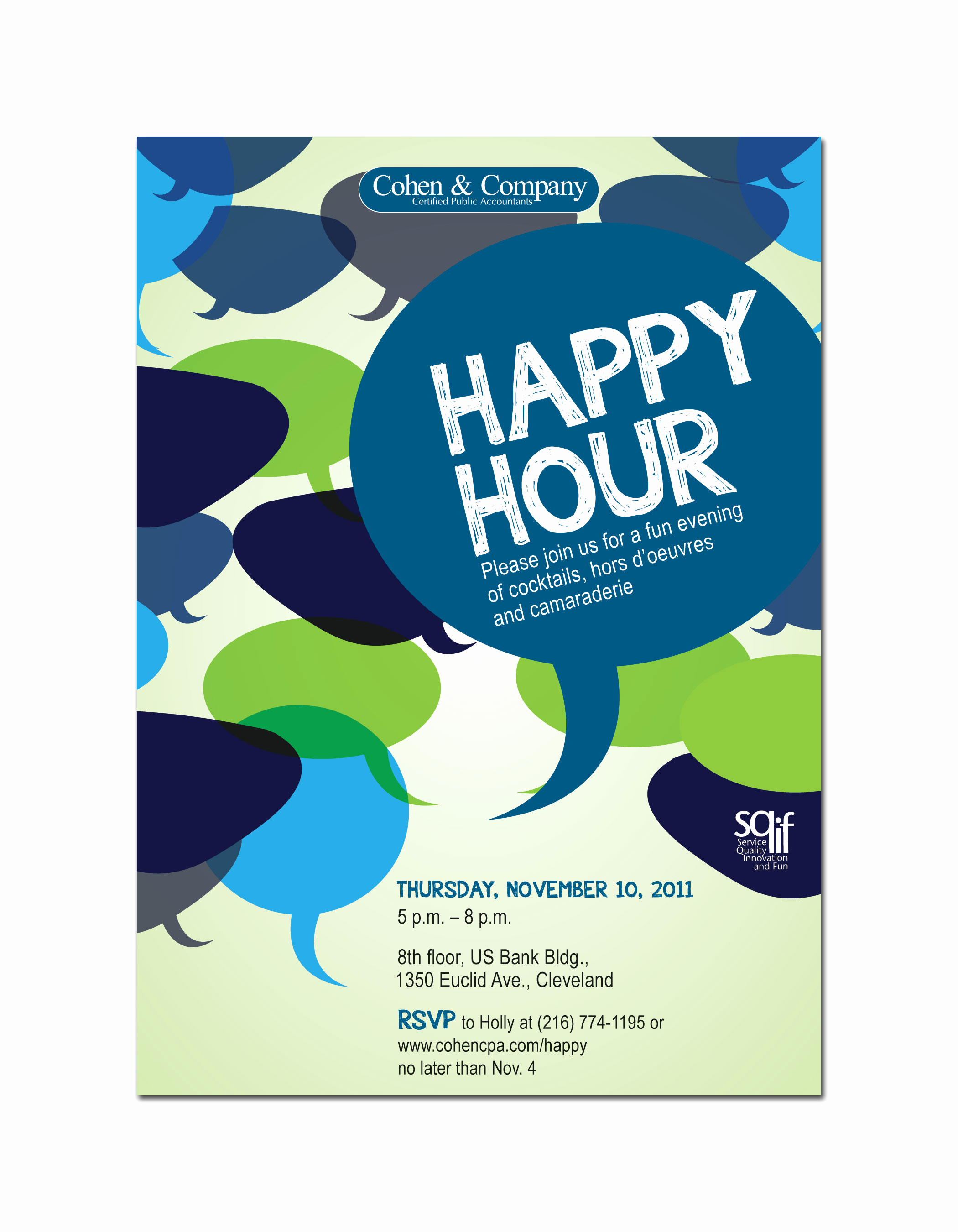 Happy Hour Invitation Wording Awesome Cohen & Pany by Lauren Beck at Coroflot