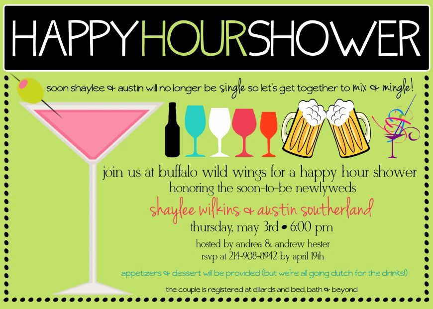 Happy Hour Invitation Wording Awesome Happy Hour Shower Invite