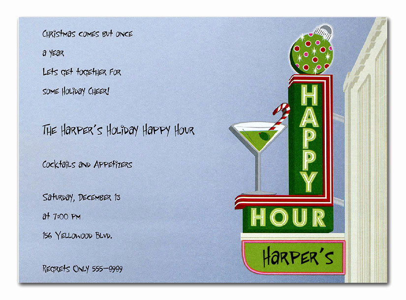 Happy Hour Invitation Wording Awesome Holiday Happy Hour by Invitation Consultants Nw I2899