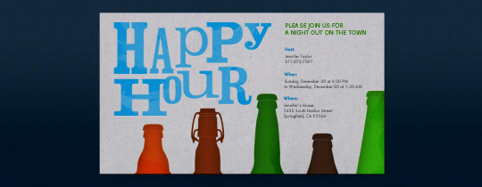 Happy Hour Invitation Wording Elegant Happy Hour Free Online Invitations