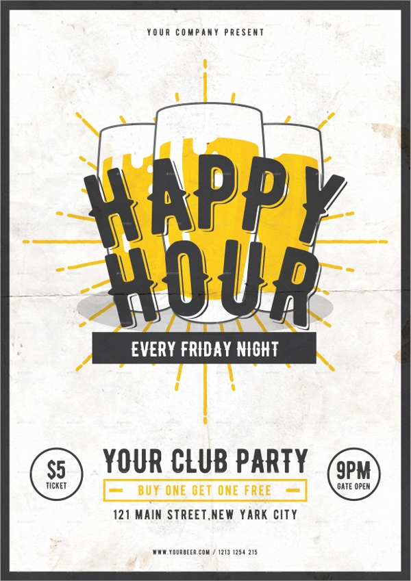 Happy Hour Invitation Wording Fresh 36 Beautiful Flyer Templates Psd Word Ai Pages