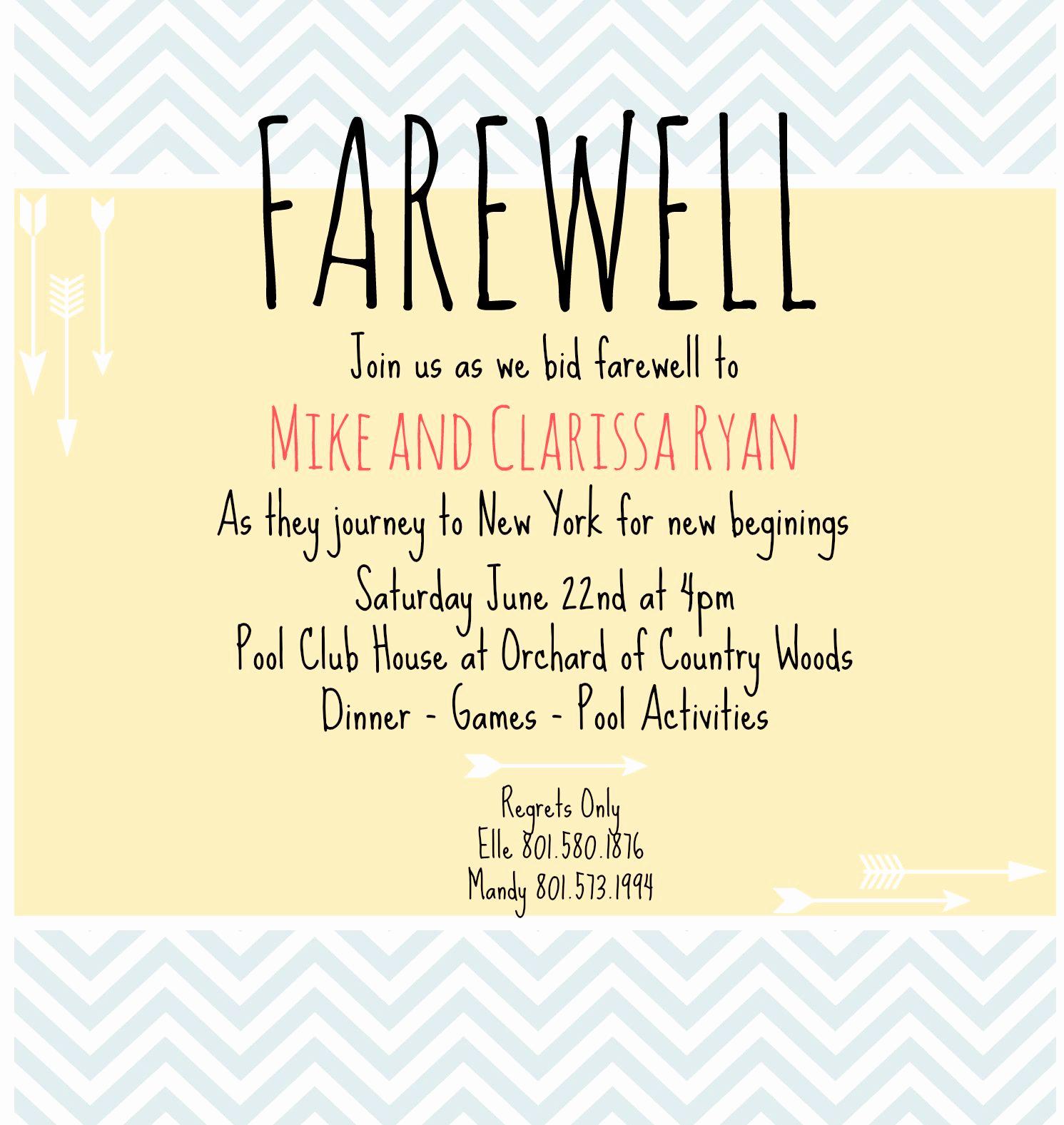 Happy Hour Invitation Wording Fresh Farewell Invite Picmonkey Creations