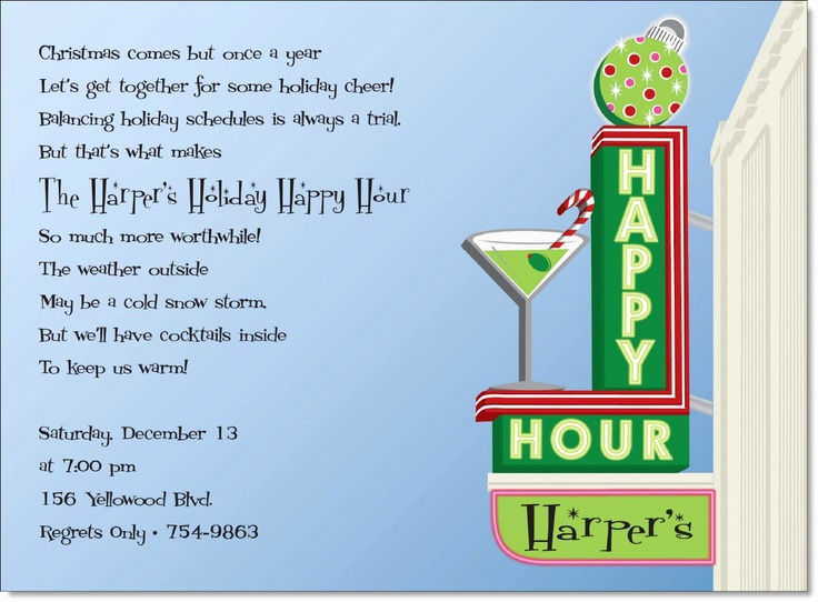 Happy Hour Invitation Wording Inspirational Retro Invite Happy Hour Party Invites