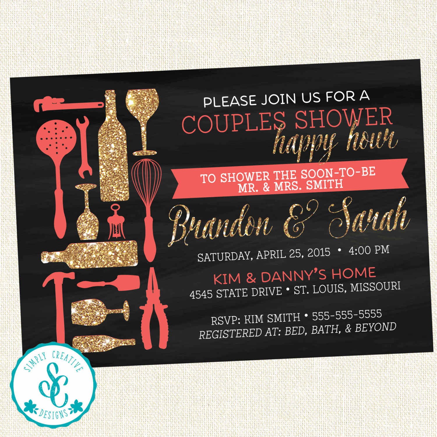 Happy Hour Invitation Wording Lovely Bridal Shower Invitation Couples Happy Hour Shower Invite