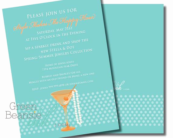 Happy Hour Invitation Wording New Happy Hour Printable Party Invitation Wine or by
