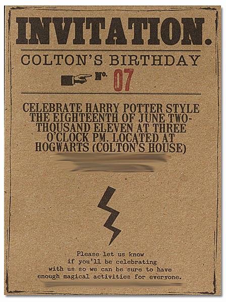 Harry Potter Birthday Invitation Best Of Harry Potter Invitation — All for the Boys