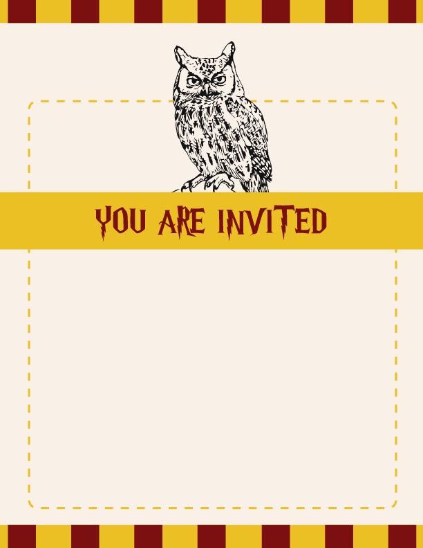 Harry Potter Birthday Invitation New Harry Potter Party Invitation Ideas
