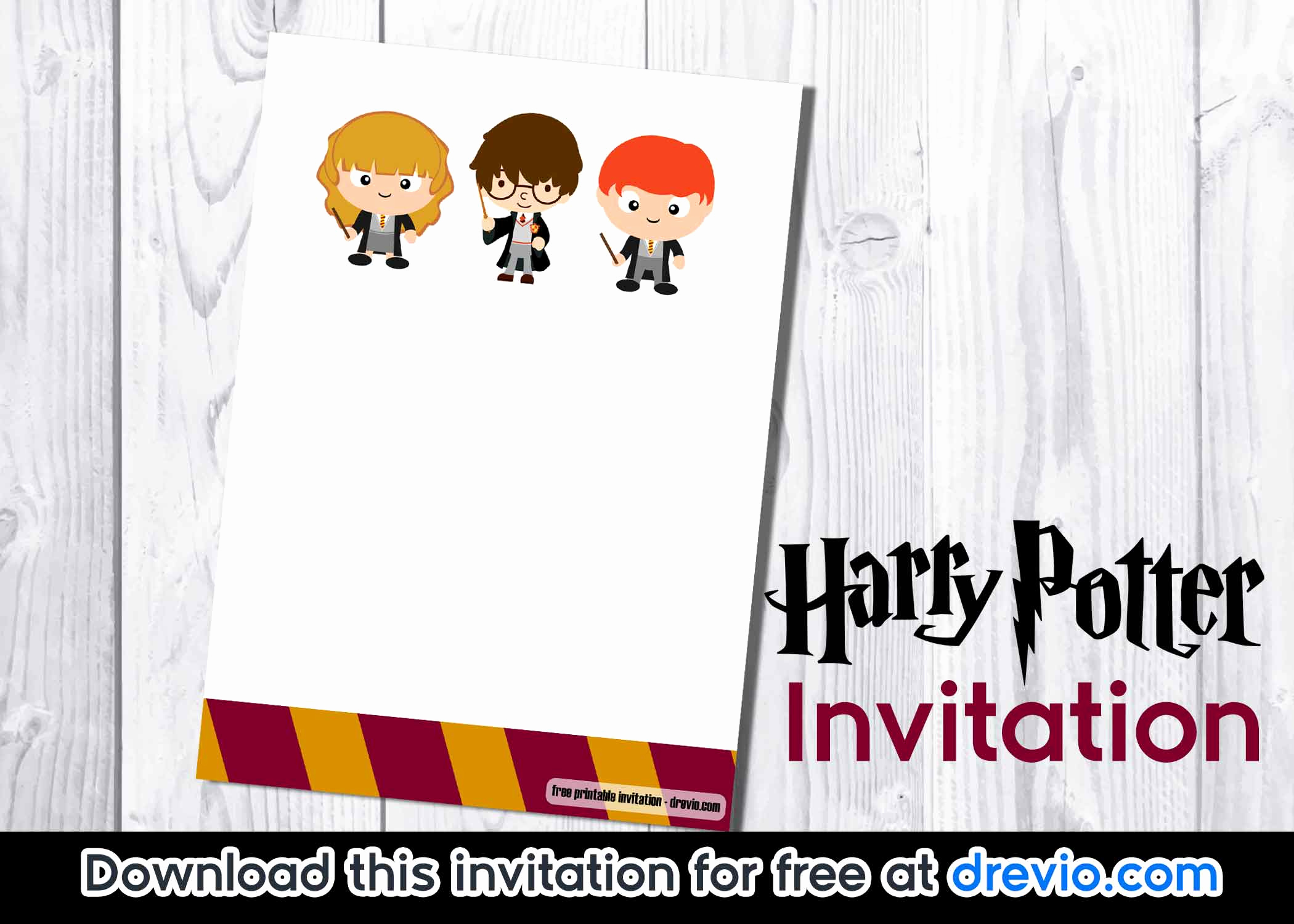 Harry Potter Birthday Invitation Template Awesome Free Printable Harry Potter Invitation Template